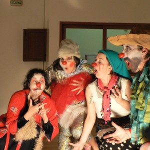 groupe de clowns en stage